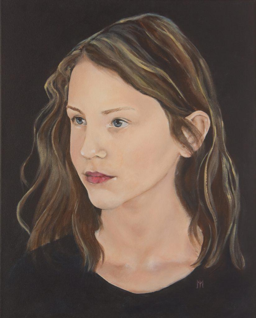 Marieke - Portret acryl 2019